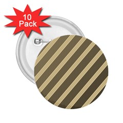 Golden Elegant Lines 2 25  Buttons (10 Pack)  by Valentinaart