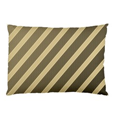 Golden Elegant Lines Pillow Case (two Sides)