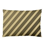 Golden elegant lines Pillow Case (Two Sides) Back