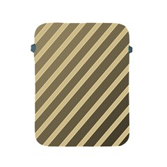Golden Elegant Lines Apple Ipad 2/3/4 Protective Soft Cases by Valentinaart