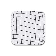 Simple Lines Rubber Square Coaster (4 Pack)  by Valentinaart