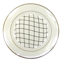 Simple Lines Porcelain Plates by Valentinaart