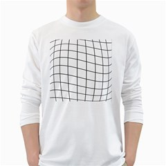 Simple Lines White Long Sleeve T Shirts