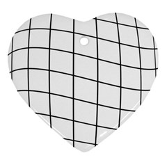 Simple Lines Heart Ornament (2 Sides) by Valentinaart