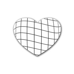 Simple Lines Heart Coaster (4 Pack)