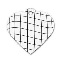 Simple Lines Dog Tag Heart (one Side)