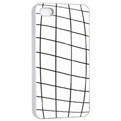 Simple Lines Apple Iphone 4/4s Seamless Case (white) by Valentinaart