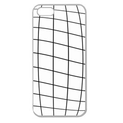 Simple Lines Apple Seamless Iphone 5 Case (clear) by Valentinaart