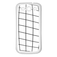 Simple Lines Samsung Galaxy S3 Back Case (white) by Valentinaart