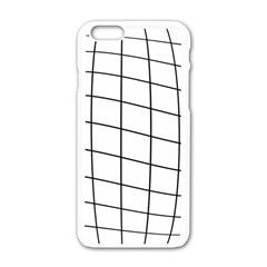 Simple Lines Apple Iphone 6/6s White Enamel Case
