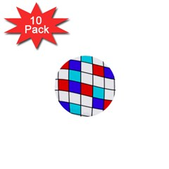 Colorful Cubes  1  Mini Buttons (10 Pack)