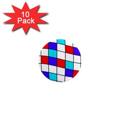 Colorful Cubes  1  Mini Magnet (10 Pack)