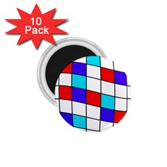 Colorful Cubes  1 75  Magnets (10 Pack)