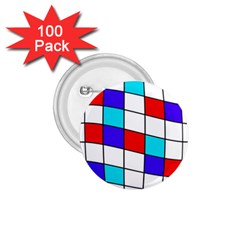 Colorful Cubes  1 75  Buttons (100 Pack)