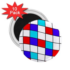 Colorful Cubes  2 25  Magnets (10 Pack)