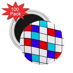 Colorful Cubes  2 25  Magnets (100 Pack)