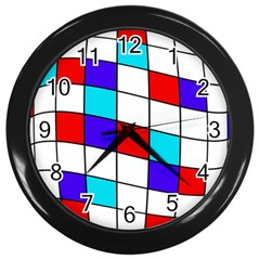 Colorful Cubes  Wall Clocks (black)