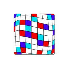 Colorful Cubes  Square Magnet by Valentinaart