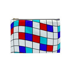 Colorful Cubes  Cosmetic Bag (medium)  by Valentinaart