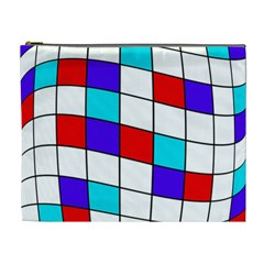 Colorful Cubes  Cosmetic Bag (xl) by Valentinaart