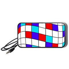 Colorful Cubes  Portable Speaker (black)  by Valentinaart