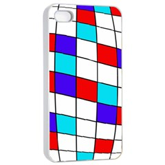 Colorful Cubes  Apple Iphone 4/4s Seamless Case (white) by Valentinaart