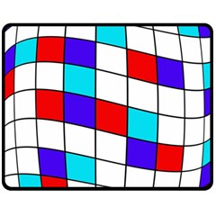 Colorful Cubes  Double Sided Fleece Blanket (medium)  by Valentinaart