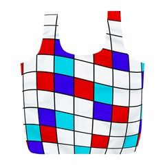 Colorful Cubes  Full Print Recycle Bags (l)  by Valentinaart