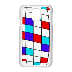 Colorful Cubes  Samsung Galaxy S5 Case (white) by Valentinaart