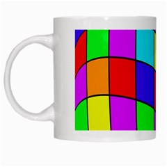 Colorful Cubes White Mugs