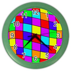 Colorful Cubes Color Wall Clocks