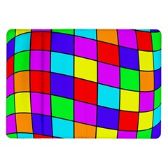 Colorful Cubes Samsung Galaxy Tab 10 1  P7500 Flip Case by Valentinaart