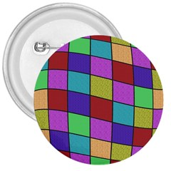 Colorful Cubes  3  Buttons by Valentinaart