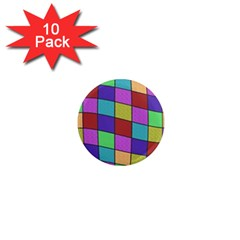 Colorful Cubes  1  Mini Magnet (10 Pack)  by Valentinaart