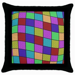 Colorful Cubes  Throw Pillow Case (black) by Valentinaart