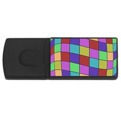 Colorful Cubes  Usb Flash Drive Rectangular (4 Gb)  by Valentinaart