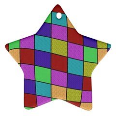 Colorful Cubes  Star Ornament (two Sides)  by Valentinaart