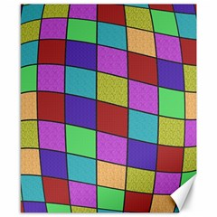 Colorful Cubes  Canvas 8  X 10  by Valentinaart