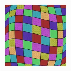 Colorful Cubes  Medium Glasses Cloth (2 Side) by Valentinaart