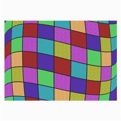 Colorful Cubes  Large Glasses Cloth (2 Side)