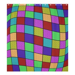 Colorful Cubes  Shower Curtain 66  X 72  (large)  by Valentinaart