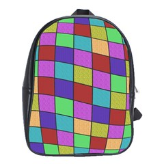 Colorful Cubes  School Bags(large)  by Valentinaart