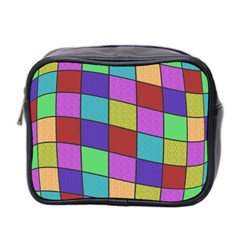Colorful Cubes  Mini Toiletries Bag 2 Side by Valentinaart