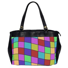 Colorful Cubes  Office Handbags (2 Sides)  by Valentinaart