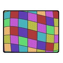 Colorful Cubes  Fleece Blanket (small) by Valentinaart