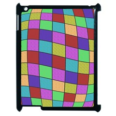 Colorful Cubes  Apple Ipad 2 Case (black) by Valentinaart