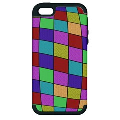 Colorful Cubes  Apple Iphone 5 Hardshell Case (pc+silicone) by Valentinaart