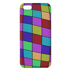 Colorful Cubes  Apple Iphone 5 Premium Hardshell Case by Valentinaart