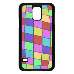 Colorful Cubes  Samsung Galaxy S5 Case (black) by Valentinaart