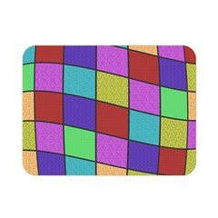 Colorful Cubes  Double Sided Flano Blanket (mini)  by Valentinaart